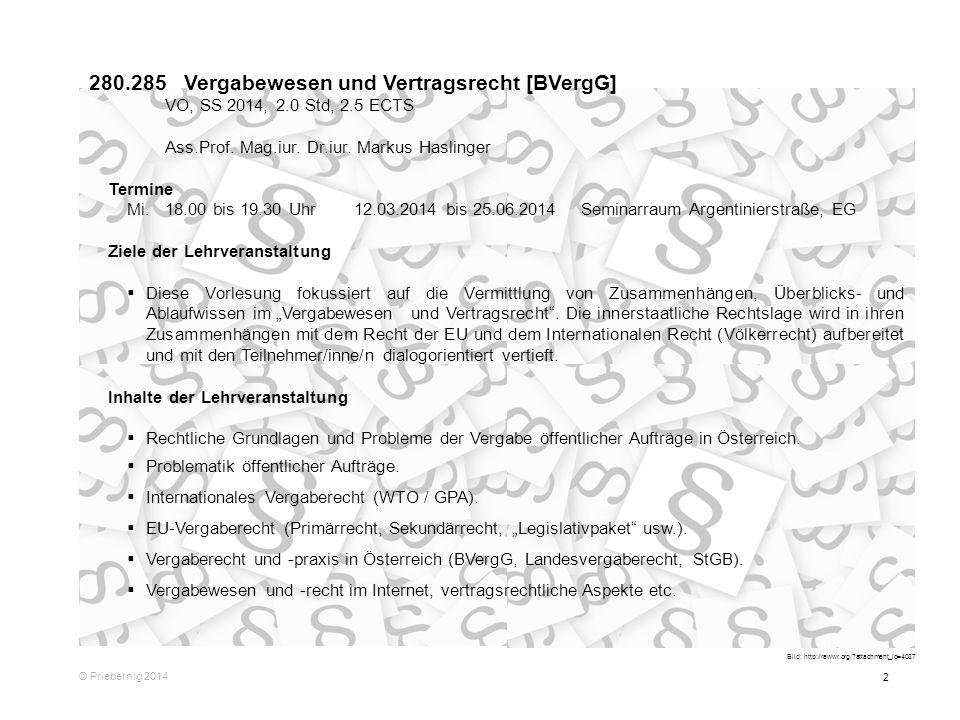 280.285 Vergabewesen und Vertragsrecht [BVergG]